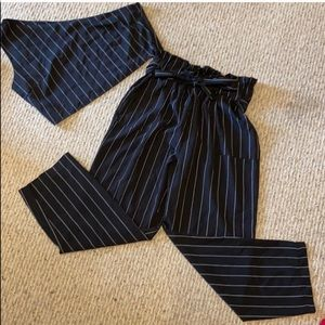 Two Piece Pinstripe Suit